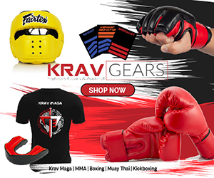 Krav Gears promotion poster of boxing products